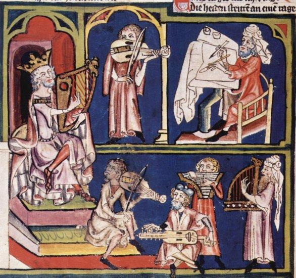 Weltenchronik des Rudolf von Ems, Szene 1340